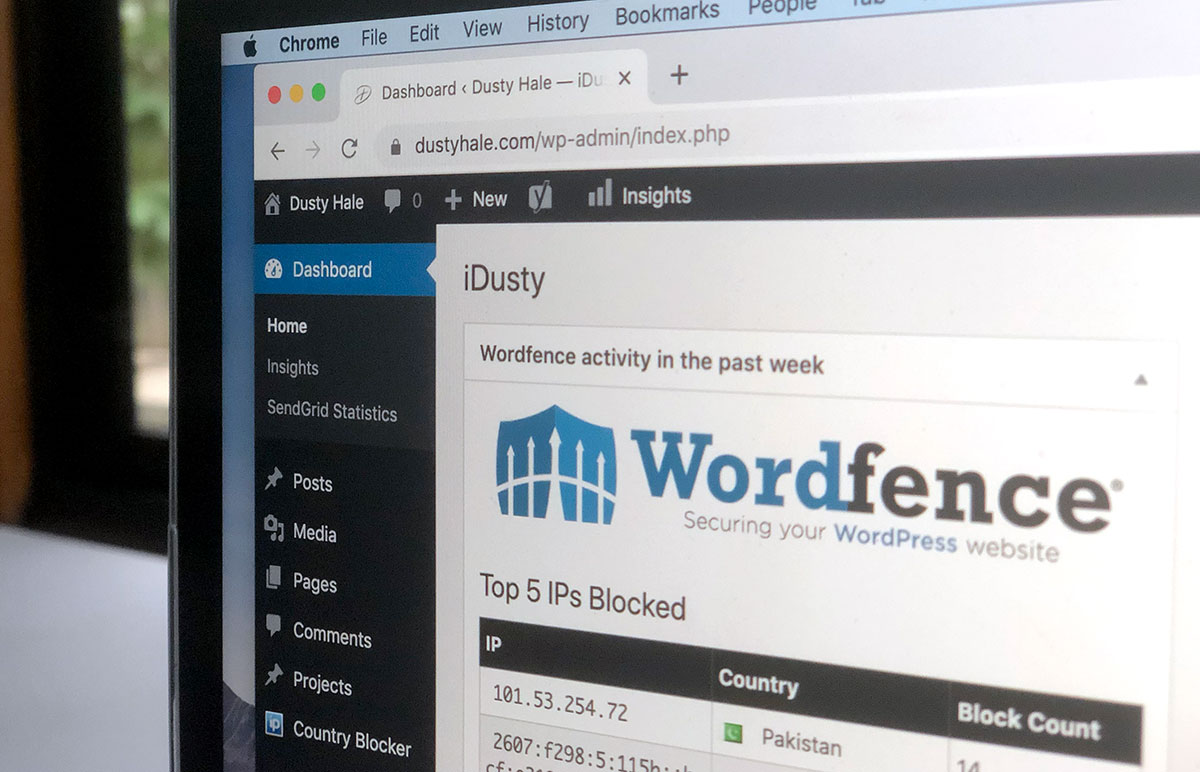 Dusty Hale - Protect Your WordPress Website